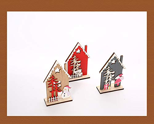 Weihnachten Schneemann Elch Rentier Weihnachtsbaum Holz Weihnachten Party Home Tisch Holzdekorationen