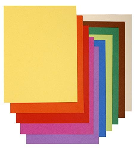 Exacompta - Réf. 150001E - Paquet de 100 Sous-Chemises FLASH 80 100% Recyclé - 22x31cm - Couleurs Assorties