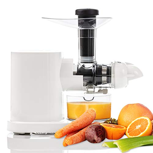 TEC Masticating Juicer - Slow, Cold Press, Juice Extractor; Easy to Set Up and Clean Plus a Powerful, Quiet 150 W Motor, Includes E-Recipe Guide [BPA-Free]