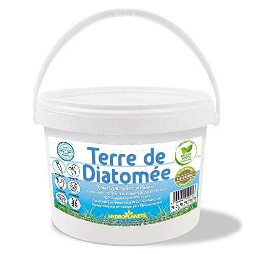 HYDROPLANETE Terre de Diatomée Grise 1kg 2kg 6kg 10kg 25kg - Amorphe Non Calcinée 100% Naturelle, utilisable en Agriculture Biologique - Origine France… (2kg)