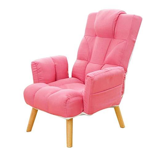 WYJW Single sofa met verstelbare rugleuning, ergonomische sofa, fauteuil, klapstoel, vrijetijdssofa, luifel, eetkamerstoel