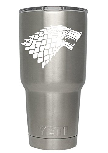 Game of Thrones Decals for Yeti cups WHITE (Tumbler not included) - Sticker for Tumbler - Decals for tumblers - Cup Decals - Mug Decals - Car Sticker - Car Decal - Window Sticker - Auto decals (White)
