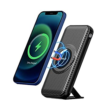 iWALK Magnetic Wireless Power Bank 20000mah Portable Charger with 15W Wireless Charging and 20W USB-C Power Delivery Smart LED Display & Phone Stand Compatible with iPhone 12 Pro Max Mini