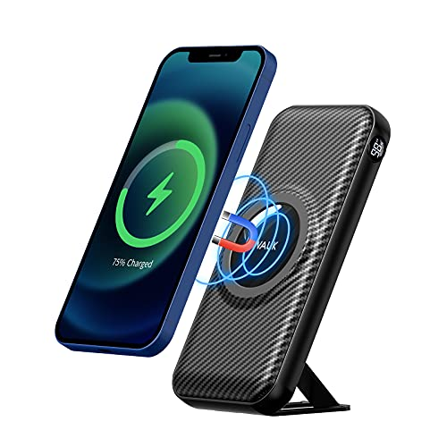 iWALK Magnetic Wireless Power Bank, 20000mah Portable Charger with 15W Wireless Charging and 20W USB-C Power Delivery, Smart LED Display & Phone Stand Compatible with iPhone, Samsung, Tablet and More