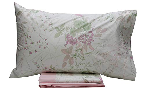 Vallesusa Sensitive Completo Letto in Cotone King Size - Rosa