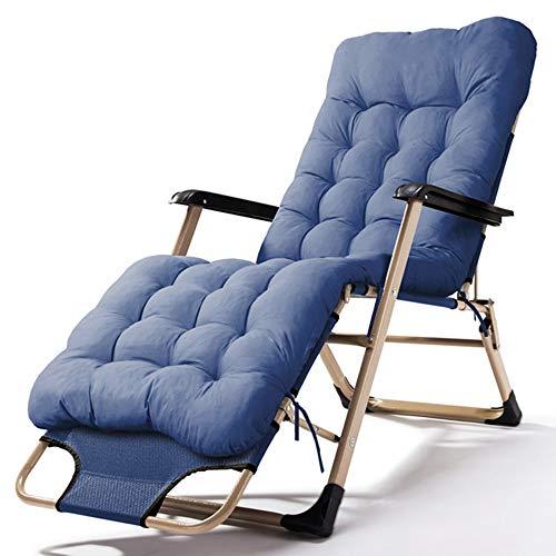 FUFU Tumbonas Jardin Exterior Chaise longue, silla plegable Pausa para el almuerzo Silla para la siesta de oficina Silla para la cama Respaldo de la silla Lazy Cool Chair Ocio Silla de playa de verano
