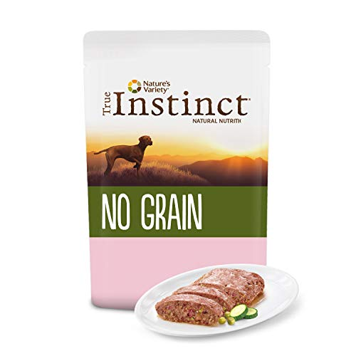 True Instinct No Grain - Nature's Variety - Terrina sin Cereales para Perros Medium-Maxi Adult con Salmón y Verduras - 8 x 300 gr