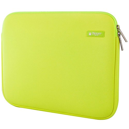 iBenzer Basic 13.3' Deluxe Neoprene Laptop Sleeve Bag Cover Case for MacBook Pro/Air/Retina 13'/iPad Pro/HP/Acer/Dell/Asus/Samsung UltraBooks, (Lime)