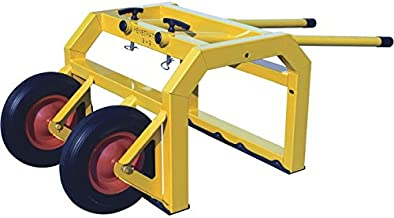 RoofZone Penetrator 2+2 Mobile Fall Protection Cart - Yellow, 40in.L x 48in.W x 45in.H, Model Number 40640