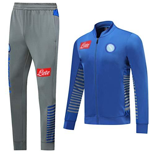 Jersey de Entrenamiento de fútbol NǎPǒLǐ Traje de fútbol Juego de Chaquetas de Carrera de Manga Larga Suéter Transporte Sportswear Activity Traje, 2021 L