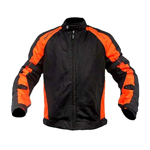 MOTOTECH Scrambler Air Motorcycle Riding Jacket - Combo Colors (Orange, XL)