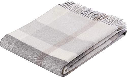 biederlack Plaid Check Wool Wolle wollweiß Größe 130x170 cm