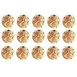 Satfale Jewellers Solido 22k Giallo Oro Fino 3,5 mm 60 Pezzi di Perline da Calcio Fatte a Mano Indiane