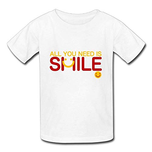 Pmguerxbfhyd Infant Short Sleeves T Shirt All You Need is Smile for Baby Girls Boy