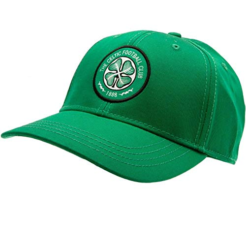 Celtic FC Crest Cap (One Size) (Green)