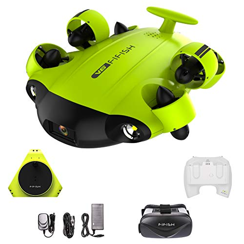 Drone sous-marin Caméra photo Fifish V6 QYSEA Grand angle 162˚ 6 Directions de mouvement 4K UHD 12...