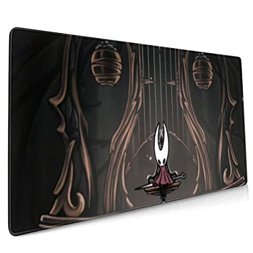 Hollow Knight Hornet Extended Gaming Mouse Mat,DIY Custom Professional Mouse Pad (35.5x15.8In),Stitched Edges,Desk Pad Keyboard Pad Mat,Water-Resistant,Non-Slip Base,For Work & Gaming,Office & Home