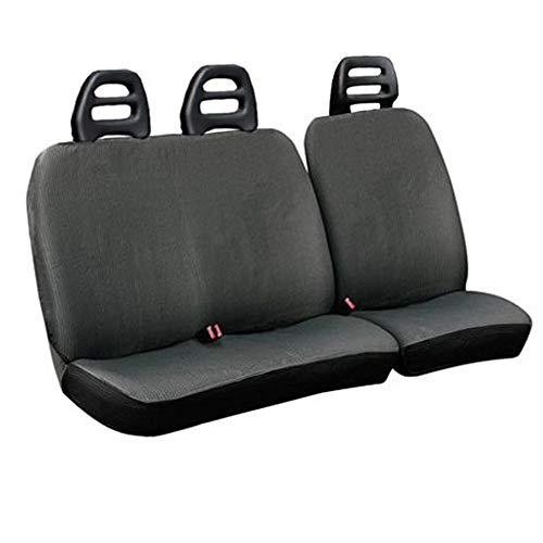 Lupex Shop C.b_G - Fundas para Asientos de Furgonetas de 3 plazas, cinturón bajo, de algodón Gris, compatibles con Trade