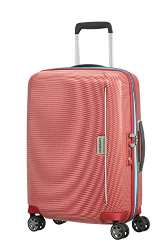 Samsonite Mixmesh Koffer, Spinner S (55cm-37L), Rosso (Red/Pacific Blue)