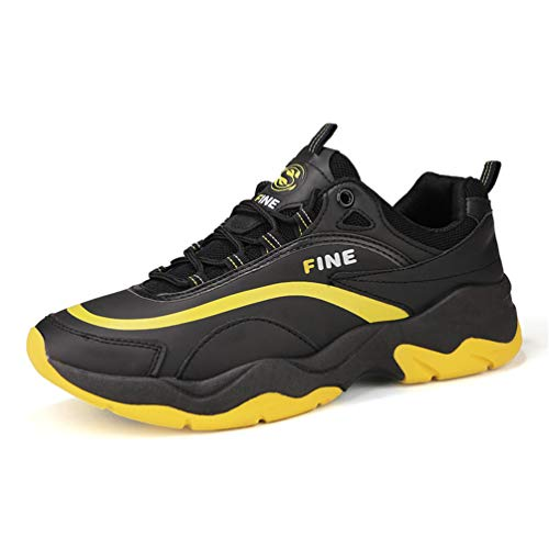 Homme Chaussure pour Multisport Outdoor Compensé Souple Sneaker Chaussure Basket Mode de Casual Tendance Antichoc Confortable Noir 41