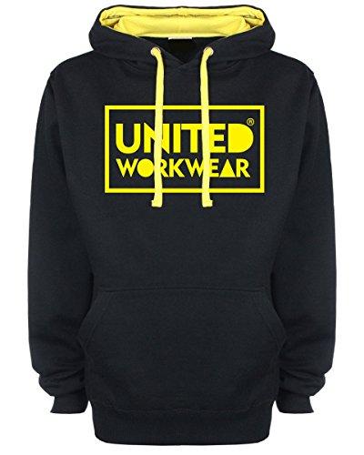 United Workwear - Sweat-Shirt à Capuche - Homme Noir Noir - Noir - Large
