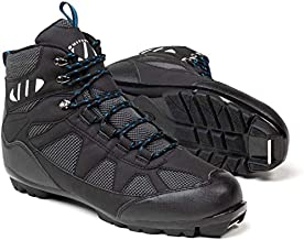Whitewoods Unisex Adult 302 NNN Nordic Cross Country XC Touring Adventure Insulated Ski Boots, Black/Blue, 37