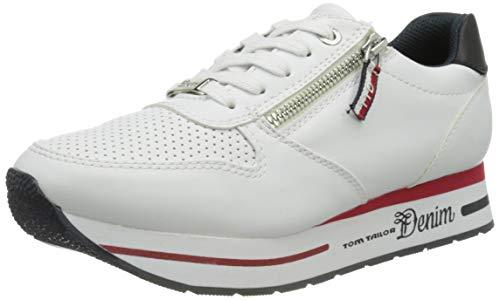 TOM TAILOR Damen 1195507 Sneaker, Weiß, 37 EU