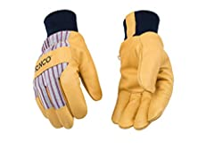 Size: Large. Product #: 1927KW-L Trademarked Otto striped cotton-blend canvas on the back-of-hand offers lightweight, breathable coverage Golden premium grain pigskin protects the palm with exceptional durability, & due to its porous nature, remains ...