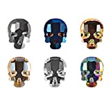 30pcs Skull Nail Gems 3D Colorful Rhinestone Nail Art Decoration for Daily or Halloween