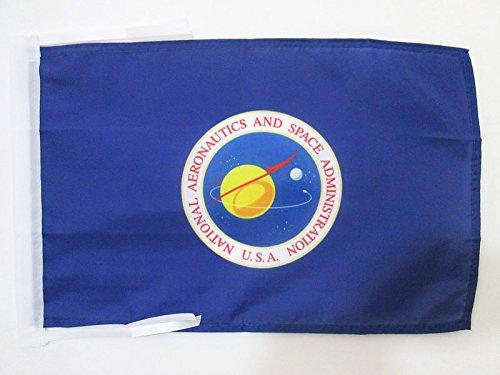 AZ FLAG Bandera de la NASA DE Estados Unidos 45x30cm - BANDERINA ADMINISTRACIÓN Nacional DE LA AERONÁUTICA Y del Espacio 30 x 45 cm cordeles