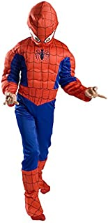 Spiderman Costume Boys Kids Light up Spider Size S M Free MASK 4 5 6 7 8 9