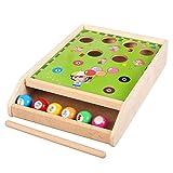 Jeu de table de billard en bois - Jeu de table amusant pour enfants - Jouet interactif