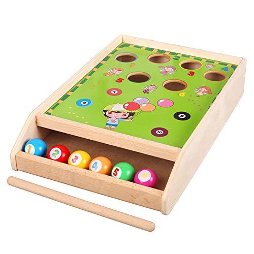 Dinapy Juego de mesa para piscina, juego de billar, juego de mesa para niños en interiores, viajes, niños/familia, ligero y portátil