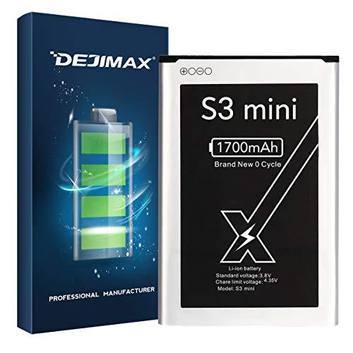 DEJIMAX 1700 mAh Batería S3 Mini para Samsung Galaxy S3 Mini, polímero de Litio de 1700 mAh para Galaxy S3 Mini / I8190