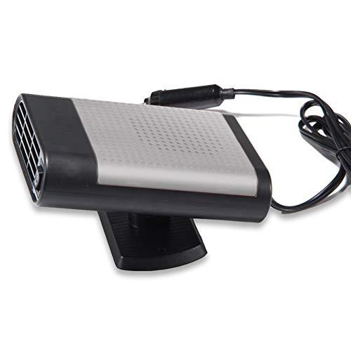ele ELEOPTION Calefactor portátil para coche, calefactor para coche, calefacción rápida en 30 segundos, 12 V, 150 W, ventilador de cerámica (negro y gris)