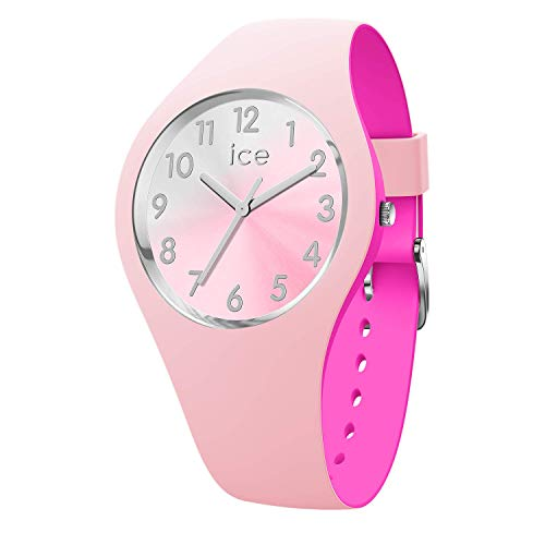 ICE-WATCH - ICE duo chic Pink silver - Rosa Damenuhr mit Silikonarmband - 016979 (Small)