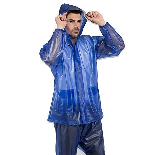 Fahrrad-Regenmantel, Gummi-Regenmantel, Rind, Männer und Frauen, Outdoor-Sehnenanzug für Arbeit, Versicherung, Reiten, Regenmantel, Anzug für Radfahren, Wandern, Camping, Outdoor