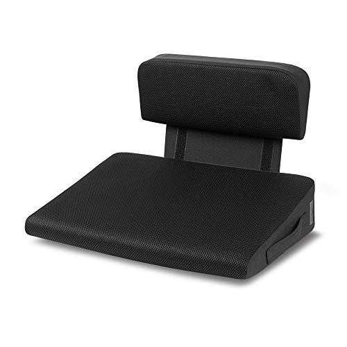 Medisana OL 350 Keilkissen mit Wärmefunktion und Lendenwirbelstütze, 3 Temperaturstufen, Überhitzungsschutz, ergonomisches Wärmekissen zur Verbesserung der Sitzhaltung für Zuhause oder Büro