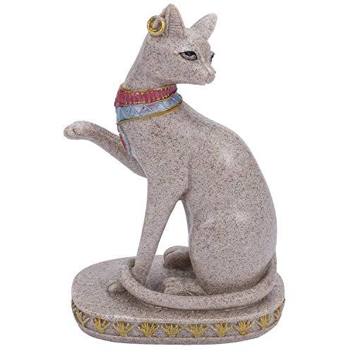 JVSISM Sand Stein Bastet Statue ?gyptische Katze Gott Figur Katze Altes ?gypten Natürlichen Sand Stein Handwerk Skulptur Haus Desk Dekor B