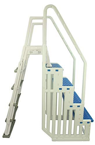 Confer Plastics Above Ground Swimming InPool Step & Ladder | Heavy Duty | White...