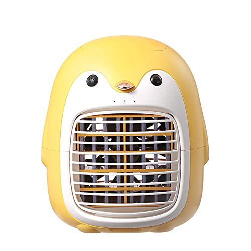 Abimy Carino Pinguino Air Cooler Ricaricabile Evaporativo Cooler Portatile Mini Umidificatore Condizionatore d'aria Personale per Casa Ufficio Camera Da Letto