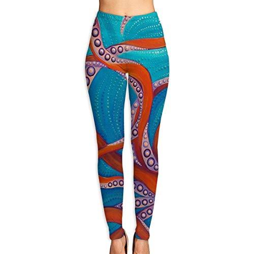 Yoga-Hosen-Sport-Trainingsgamaschen Octopus & Clown Fish Womens Ultra Soft Leggings Fashion High Waist Yoga Pants Printed Sport Workout Leggings Tight Pants