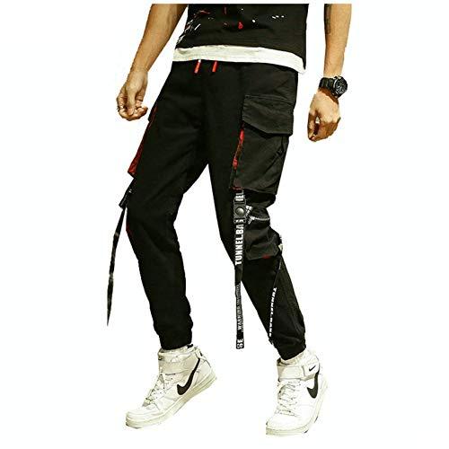 HNRLSL Cargo Haremshose Persönlichkeit Lässige Jogger Hip Hop Hosen Männer Tasche Schwarze Haremshose Männer Kleidung Mode Koreanische Männerhose