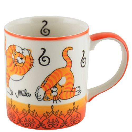 440s Mila Keramik-Becher Oommh Yoga Katze | MI-80212 | 4045303802124