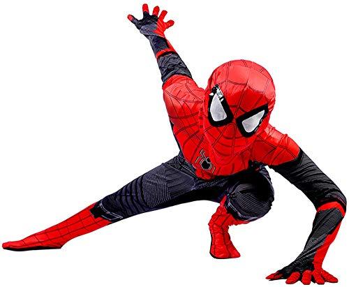 Disfraz Spiderman Niño, Homecoming Spiderman Disfraz Niño Halloween, Carnaval Superheroe Spiderman Mascara Niño Cosplay Suit Spiderman Traje 3D Print, Disfraz De Spiderman Niño,RedBlack-S(112cm~122cm)