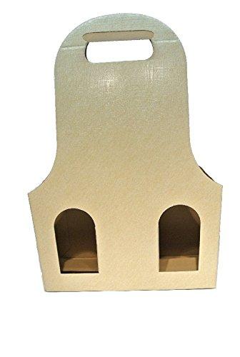 Bellaflor Flaschenverpackung Creme 27x9x41cm für DREI Flaschen