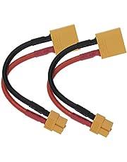 1 unid/2 unids XT90 macho a XT60 conector hembra cables adaptador con 10 cm/4 pulgadas 12AWG cable de silicona y plástico protector Shell para RC Lipo NiMH cargador de batería ESC
