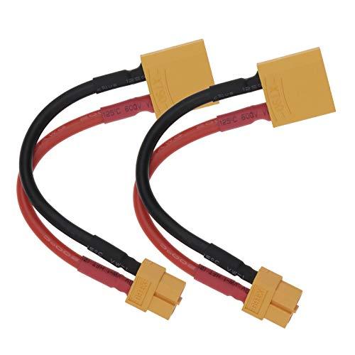 2 unids XT90 macho a XT60 hembra conversión conexión cable adaptador con...