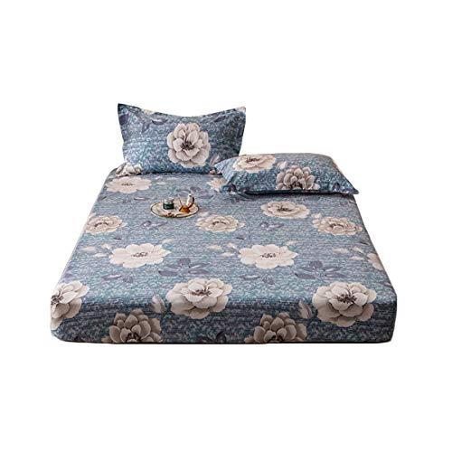 HOMFLOW Bedding Protector De Colchón Suave Transpirable Cubre Colchón Resistente Al Encogimiento Sin Estimulación Comodidad Lavable Dormitorios (Color : C, Size : B 150x200cm)
