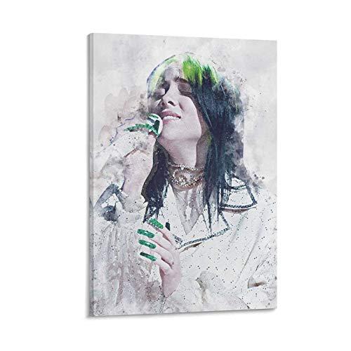 ZXCQWE Billie Eilish 6666 - Póster decorativo de lienzo para pared de salón o dormitorio, 20 x 30 cm